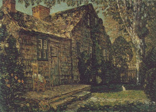 Little Old Cottage | Childe Hassam | oil painting