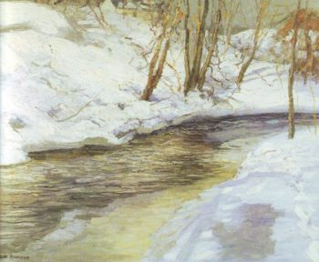 Snowdrifts | Edward Willis Redfield | oil painting