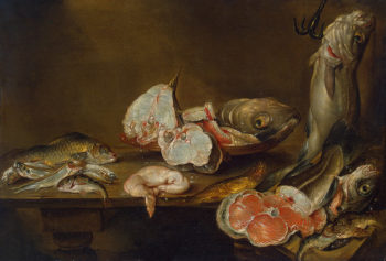 Fish Piece 1643 | Adriaenssen Alexander | oil painting