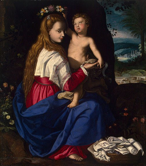 Allegory of the Christian Church Early 1600s   Allori Alessandro   oil painting