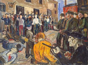 Civilization in General Francos Way 1936 | Amelin Albin | oil painting
