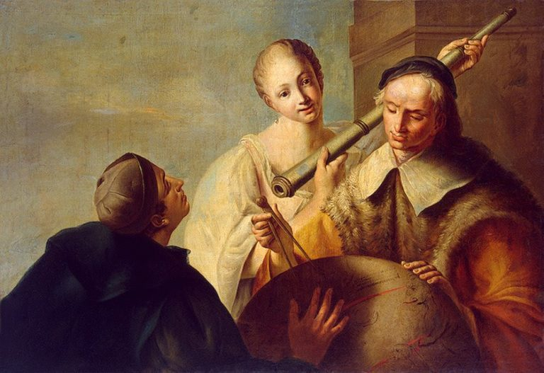 Lesson in Astronomy Late 1750s | Angeli Giuseppe | oil painting