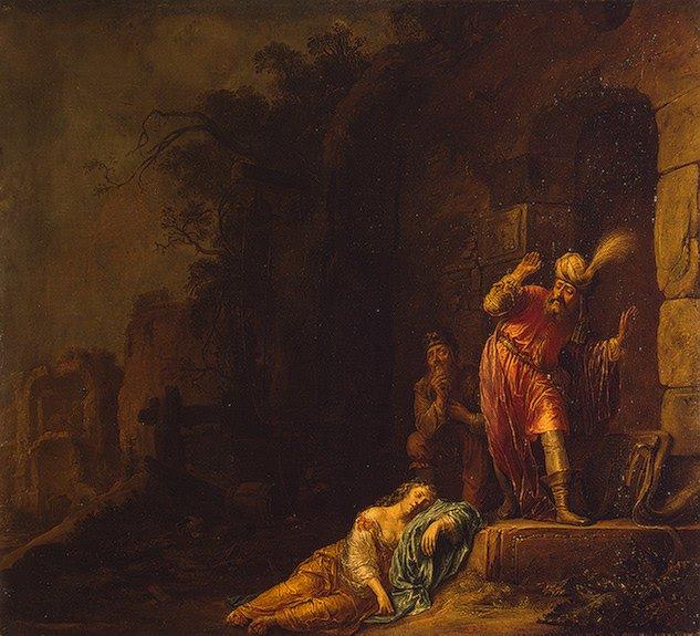 Death of Levis Wife 1638 | Bartsius (Bartius) Willem | oil painting