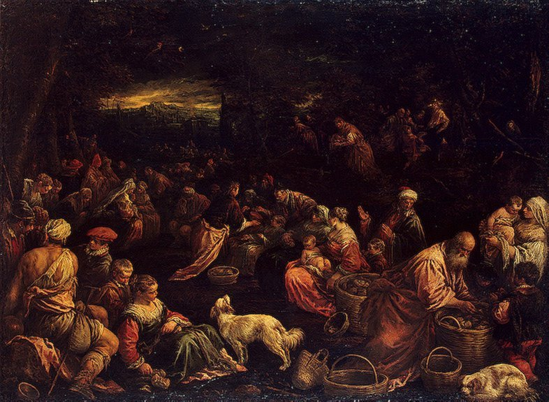 Miracle of the Loaves and Fishes Early 1580s | Bassano Francesco (Francesco da Ponte) | oil painting