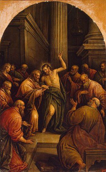 Incredulity of St Thomas 1592-1594 | Bassano Leandro (Leandro da Ponte) | oil painting