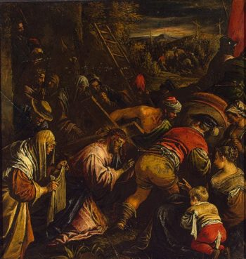 Carring of the Cross 1580s | Bassano Leandro (Leandro da Ponte) | oil painting
