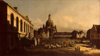 Neumarkt in Dresden 1747 | Bellotto Bernardo | oil painting