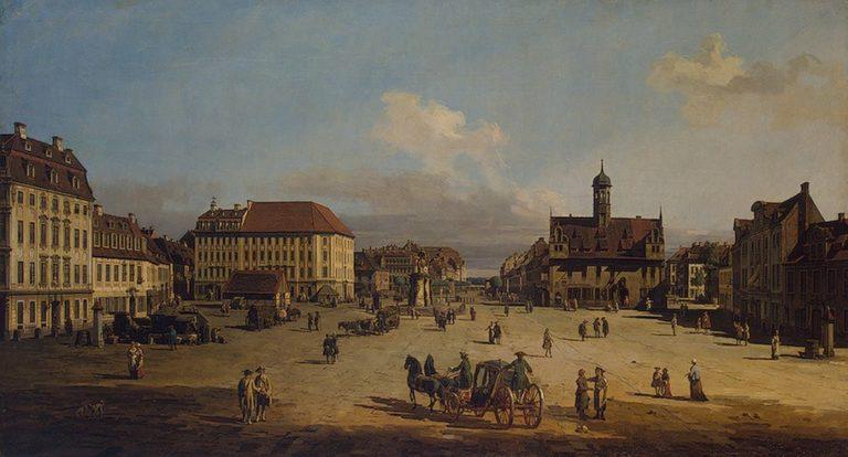 Market-place of the Neustadt in Dresden 1751or1752 | Bellotto Bernardo | oil painting