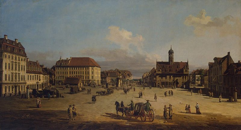Market-place of the Neustadt in Dresden 1751or1752 | Bellotto Bernardo | oil painting