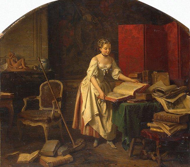 A-Curions-Woman | Beranger-Emile-1848 | oil painting