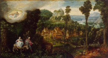 Landscape with Flight into Egypt First half of the 16th century | Bles Herri Met de | oil painting