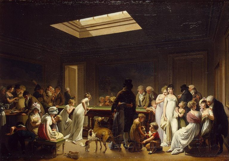 A Game of Billiards 1807   Boilly Louis-Leopold   oil painting