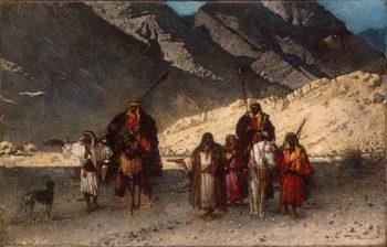 Arabian Sheikhs in the Mountains 1872 | Bonnat Leon Joseph Florentin | oil painting