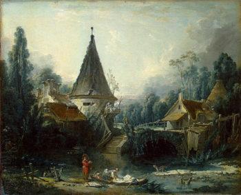 Landscape Near Beauvais 1741s | Boucher Francois | oil painting