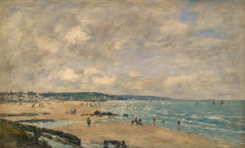 Beach at Trouville 1893 | Boudin Eugene | oil painting