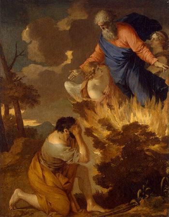 Moses and the Burning Bush 17th century | Bourdon Sebastien | oil painting