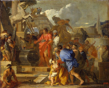 Augustus before the Tomb of Alexander late 1650s | Bourdon Sebastien | oil painting