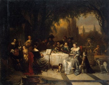 A Home Music Party 1854 | Braekeleer Adrien de | oil painting
