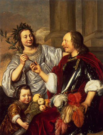 Allegorical Family Portrait 1670 | Bray Jan de | oil painting