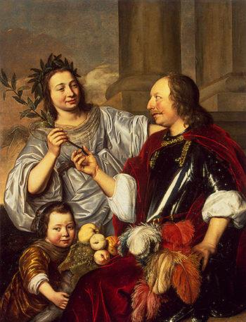 Allegorical Family Portrait 1670 | Bray Jan de | oil painting