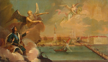 Allegory of the Victory of the Russian Fleet over the Turks in the Turkish War of 1768-1774 1777 | Buchholtz Heinrich | oil painting