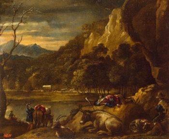 Mountainous Landscape Late 1640s-early 1650s | Castillo Antonio del | oil painting