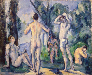 Bathers 1890OR1891 | Cezanne Paul | oil painting