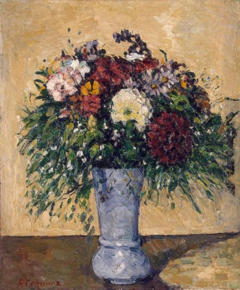 Flowers in a Blue Vase 1873-1875 | Cezanne Paul | oil painting