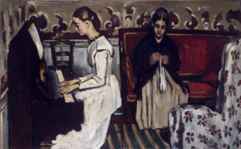 Girl at the Piano (The Overture to Tannhauser 1868 | Cezanne-Paul | oil painting
