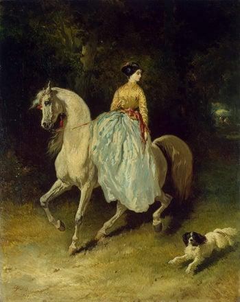 Horsewoman (Amazon) 1848 | De Dreux Alfred | oil painting