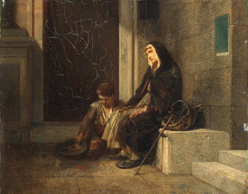 Beggers 1845 | Decamps Alexandre-Gabriel | oil painting