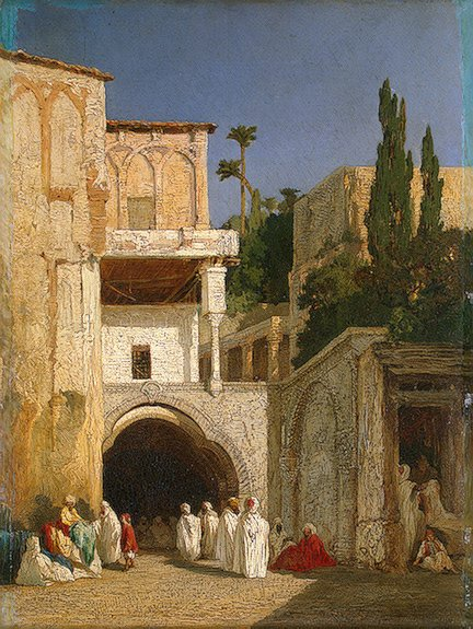 Before a Mosque (Cairo) 1868 | Decamps Alexandre-Gabriel | oil painting