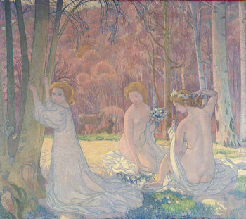 Figures in a Spring Landscape (Sacred Grove) 1897 | Denis Maurice | oil painting
