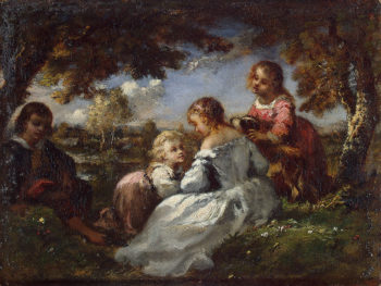 Children in a Garden 1840s | Diaz de la Pena Narcisse | oil painting