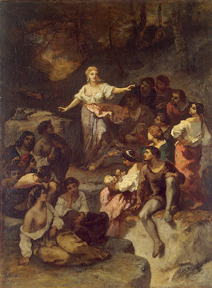 Gypsies Listening to the Prophecies of a Young Fortune-Teller 1848 | Diaz de la Pena-Narcisse | oil painting