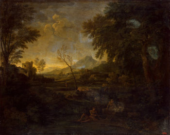 Landscape with an Angler 1653-1655 | Dughet Gaspard (Gaspard Poussin) | oil painting