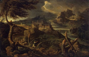 Landscape with Lightning Late 1660s | Dughet Gaspard (Gaspard Poussin) | oil painting