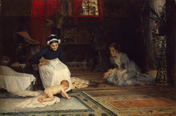 In the Nursery 1885 | Edelfelt Albert (Gustaf Aristides) | oil painting