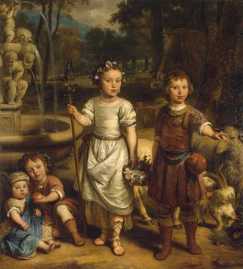 Children in a Park 1671 | Eeckhout Gerbrandt Jansz van den | oil painting