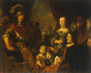 Coriolanuss Mother and Wife Begging Him to Spare Rome 1662 | Eeckhout Gerbrandt Jansz van den | oil painting