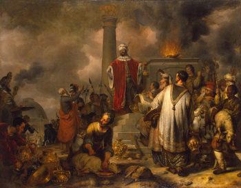 Jeroboams Sacrifice at Bethel 1656 | Eeckhout Gerbrandt Jansz van den | oil painting