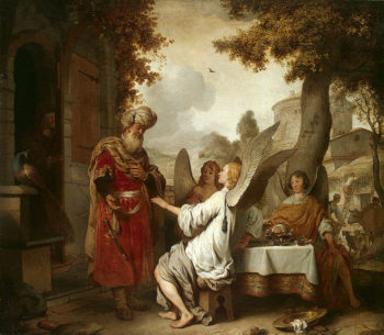 Abraham and the Three Angels 1656 | Eeckhout Gerbrandt Jansz van den | oil painting
