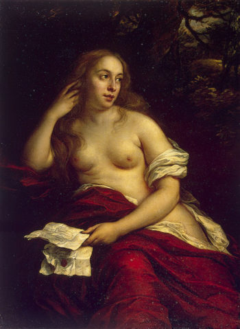 Bathsheba with King Davids Letter 1659 | Flinck Govert | oil painting