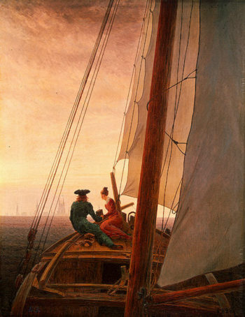 On a Sailing Ship 1818-1820 | Friedrich Caspar David | oil painting