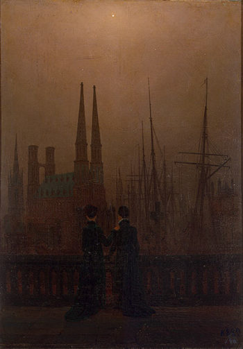 Night in a Harbour (Sisters) 1818-1820 | Friedrich Caspar David | oil painting