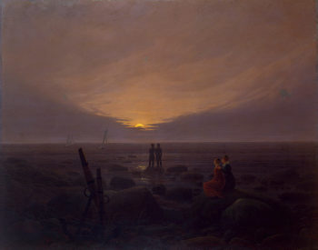 Moonrise over the Sea 1821 | Friedrich Caspar David | oil painting
