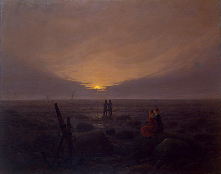 Moonrise over the Sea 1821 | Friedrich Caspar David | oil painting