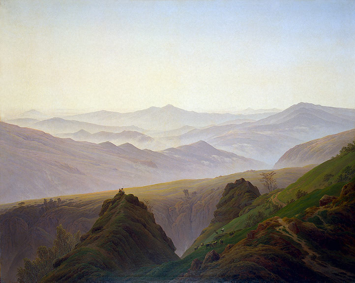 Morning in the Mountains No later than 1823 | Friedrich Caspar David | oil painting