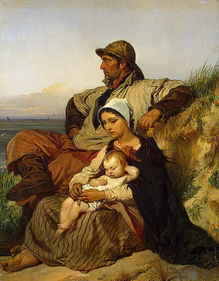 A Fishermans Family 1848 | Gallait Louis | oil painting