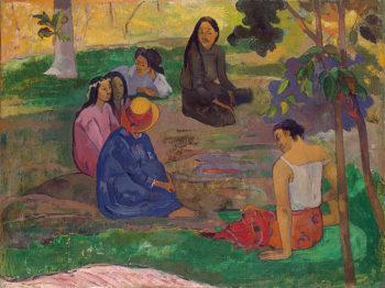 Conversation (Les Parau Parau) 1891 | Gauguin Paul | oil painting